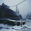 Pamests kara kuģis Kolas līcī, Murmanska