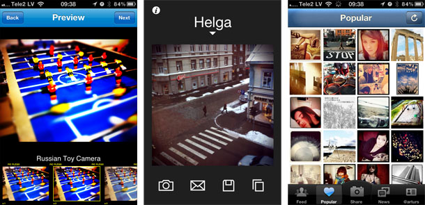 Dažas no fotogrāfiju aplikācijām iPhone