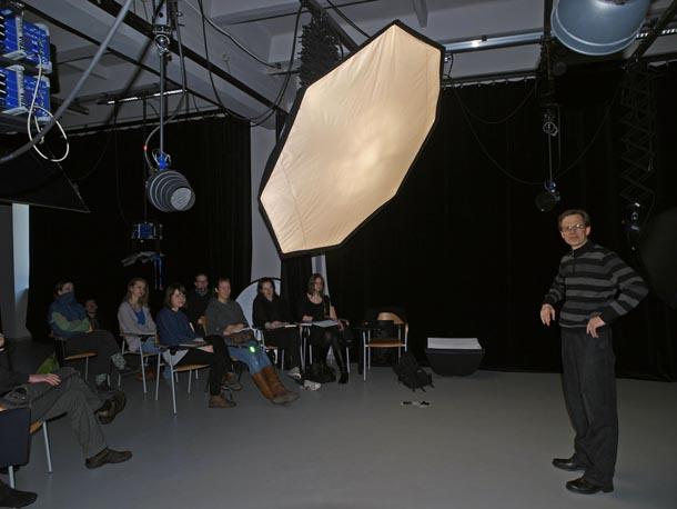 Fotogrāfijas un videomākslas nodaļas fotostudija