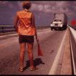 Flips Šulke (Schulke, Flip), Darbiniece regulē satiksmi ceļu remonta laikā