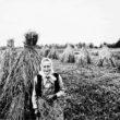 Uģis Niedre. Portrets ar rudzu statiem. Madonas rajons. Meirāni, Ābolkalni. 1970./1980. gadi