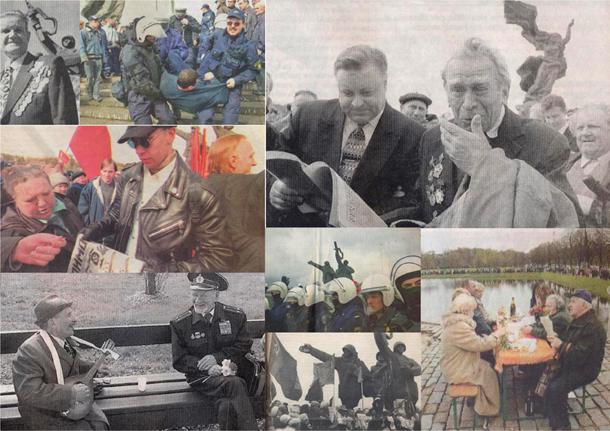 Kolāža no fotogrāfijām latviešu presē