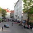 Rinda pie Rīgas pils. Foto - Arnis Balčus