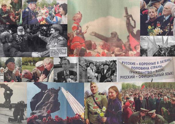 Kolāža no fotogrāfijām krievu presē