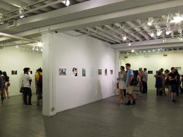 Atklāšana Aperture galerijā. Foto - Arnis Balčus