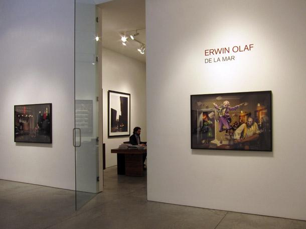 Ērvina Olafa darbi Hausted Kraeutler galerijā. Foto - Arnis Balčus