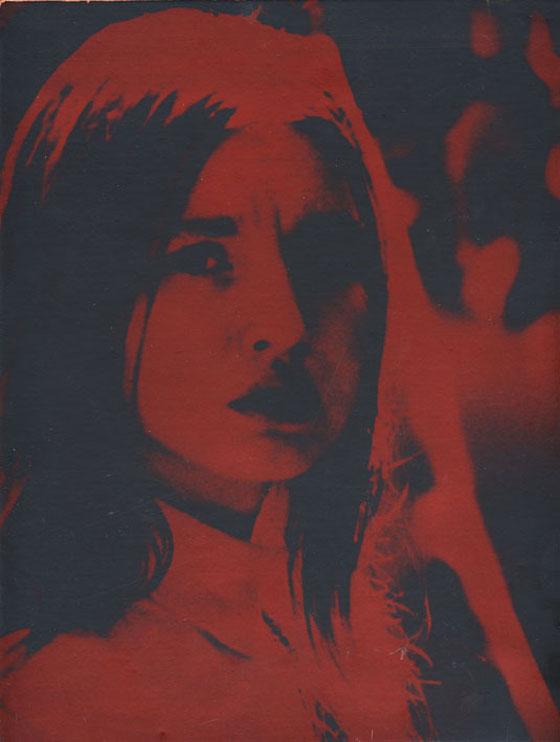 Atis Ieviņš. Daina Melgaile. 1970. Papīrs, sudraba želatīna kopija, kodinājums, anilīna krāsojums. Publicitātes foto
