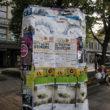 Kauņas fotofestivāla plakāti uz afišu staba. Foto - Arnis Balčus