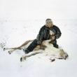 Selīna Klanē. Simon Ailo ar nogalināto ziemeļbriedi, Masi, 2009