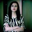 """Justīna Melnikeviča. No sērijas """"City of Women"""", Baltkrievija, 2011."""