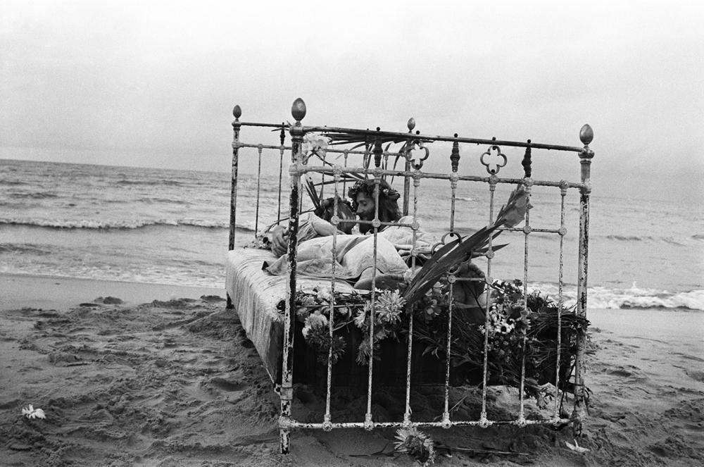 """Māra Brašmane. Andra Grinberga kāzas-hepenings """"Jēzus kāzas"""". 1972"""