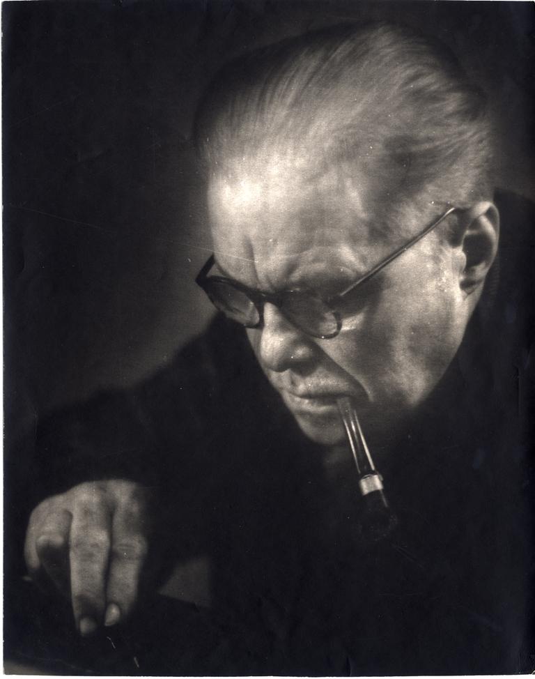 Egons Spuris. Mākslinieks Aleksandra Junkera portrets. 1960. gadu sākums. Latvijas Nacionālā mākslas muzeja kolekcija