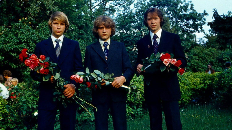 Pēc 8.klases izlaiduma Ogres vidusskolā, 1980.gads. L. Grunte