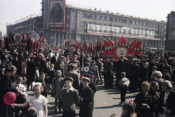 Vladislavs Mikoša. 1. maija demonstrācija Maskavā. 1948