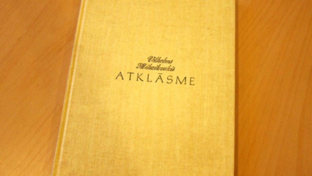 """Vilhelma Mihailovska grāmata """"Atklāsme"""""""