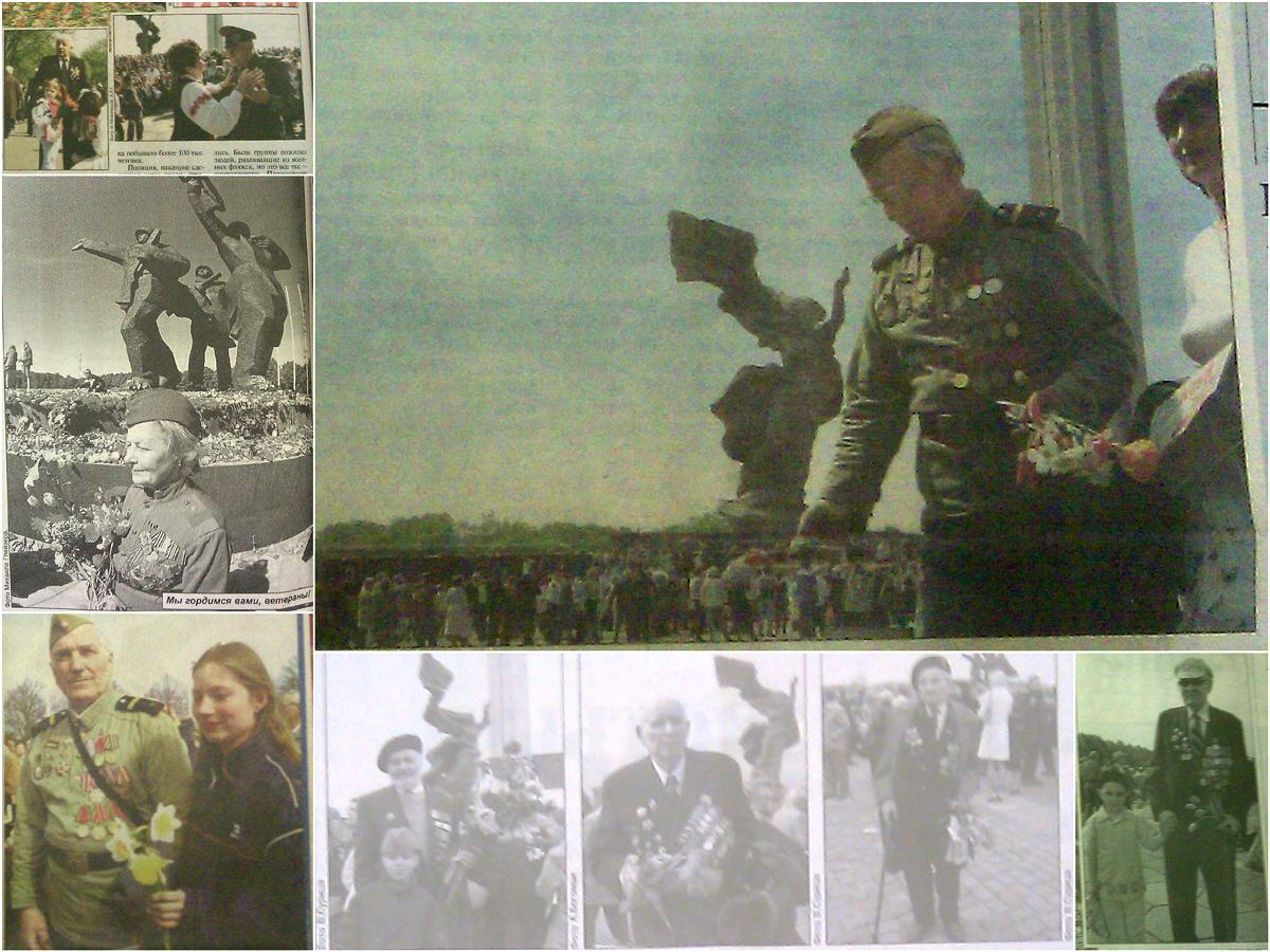 Kolāža no krievvalodīgās preses fotogrāfijām