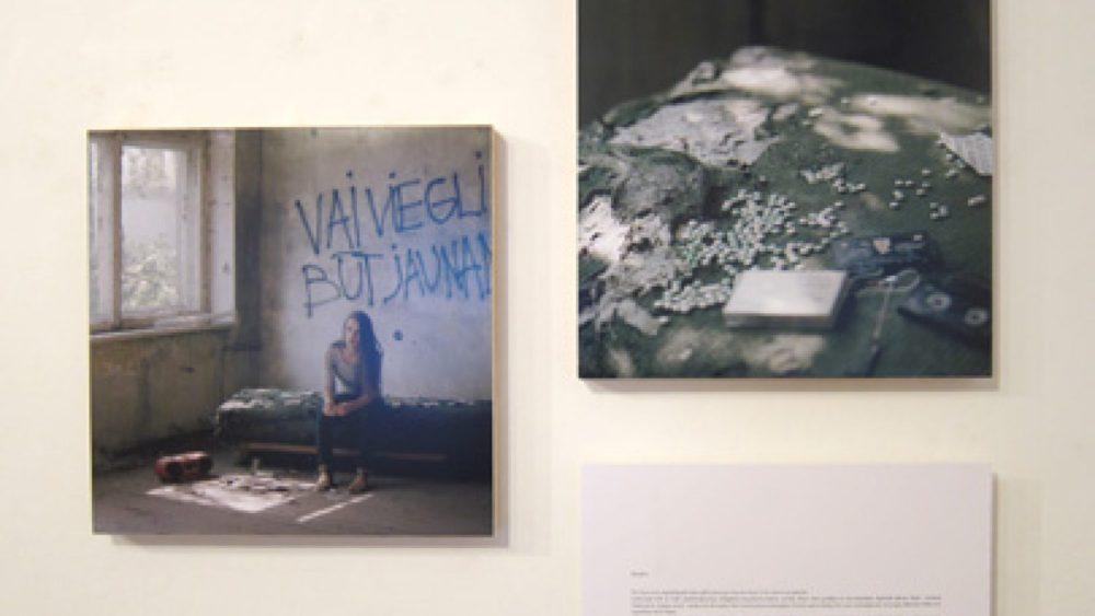 Skats no Ievas Balodes izstādes Fotomuzejā