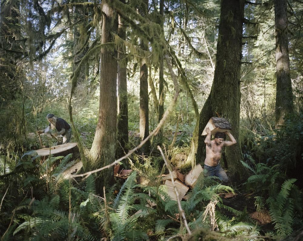 Mežstrādnieki. Foto - Anna Bīke