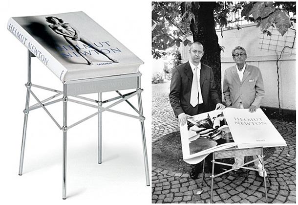 Izdevējs Benedikts Tašens un Helmuts Ņūtons ar Sumo grāmatu