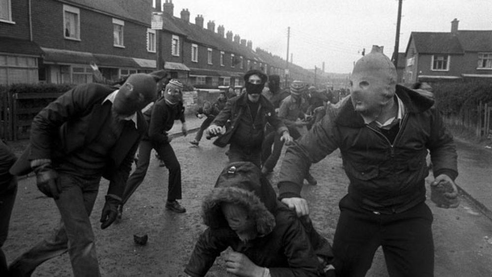 Jans Morvans. Belfāsta, Ziemeļīrija, 1981. Ielu nemieri.