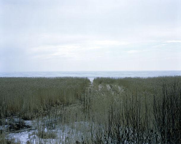 Jans Morvans. Lādogas ezers, Sanktpēterburga, Krievija. No sērijas Kaujaslauki. Dzīvības ceļš Otrā pasaules kara laikā.