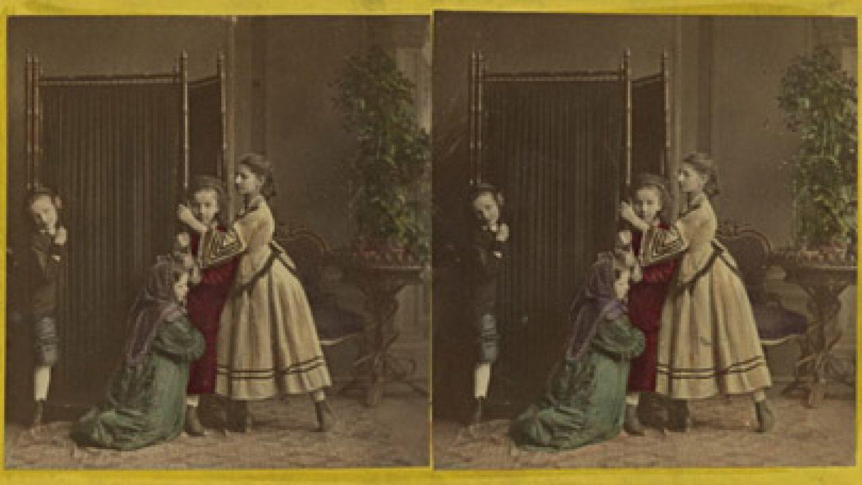 Nezināms autors. Meitenes pie ekrāna. 19.gs beigas, 20. gs sākums