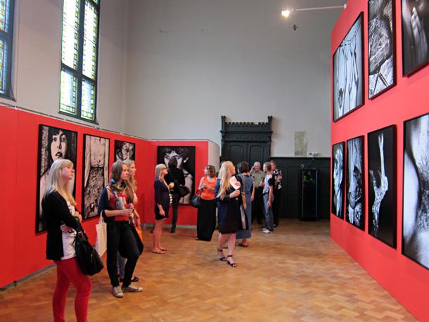 Skats no izstādes Mākslas akadēmijā. Foto - Arnis Balčus