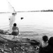 Linda Dorigo. Ēģipte, Deir Abu Hennis, Jūlijs 2012. Nīlas upe ir galvenais ciemata iztikas avots.