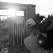 Linda Dorigo, Irāna, Patavere, Augusts 2011. Olga dzimusi Asīrijas kristiešu ciematā Pataverē, kas atrodas Irānas ziemeļrietumos. Katru gadu augustā emigrējušie kristieši - kā Olga, kura dzīvo Francijā - atgriežas savās dzimtajās vietās, lai brīvdienas pavadītu ar ģimeni. Fotogrāfijā - Olga ar mazdēlu pie kapsētas.