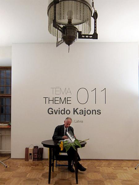 Gvido Kajons izstādes atklāšanā. Foto - Arnis Balčus