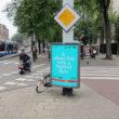 Unseen reklāmas plakāts Amsterdamas ielās. Foto - Arnis Balčus