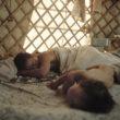 Mikele Palaci. Mongolija, Gobi, Omongovi, 2012. Tuvšinbajars guļ līdzās savam dēlam Tujšintugam, atpūšoties pēc rīta darba.
