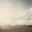 Mikele Palaci. Mongolija, Gobi, Tsogtsestije, 2012. Tsogtsestijā ir tikai viena bruģēta iela.
