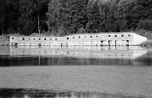 Mārtiņš Grauds. Laivu mājas. Alūksnes ezers, 2009