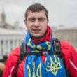 """Sergejs Juziks, Ivano-Frankovska, 26 gadi, baņķieris. """"Es atbraucu, lai atbalstītu Eiropas izvēli manā valstī. Es vēlos, lai manā valstī ir reāla vara, demokrātija. Vēlos, lai katram cilvēkam ir tiesības un vērtības, jo mēs esam Eiropas centrā, mums ir jākļūst par Eiropeisku valsti!"""" Foto - Aleksejs Furmans"""