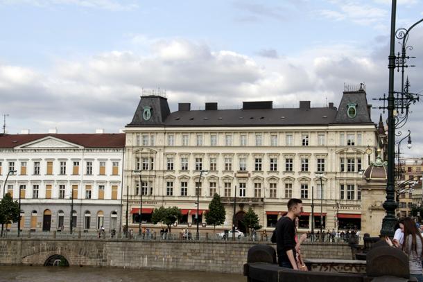 FAMU ēka Prāgas centrā. Foto - Guna Leite