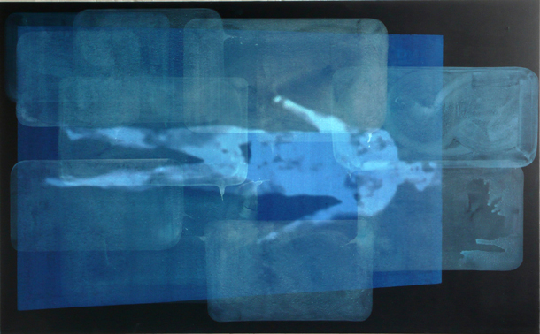 """Dominiks Leimans, """"Nekā, ko pievienot"""" (""""Nothing to Add""""), 2011. Akrils uz audekla, kadrs no video. No izstādes """"Atbalsis"""""""