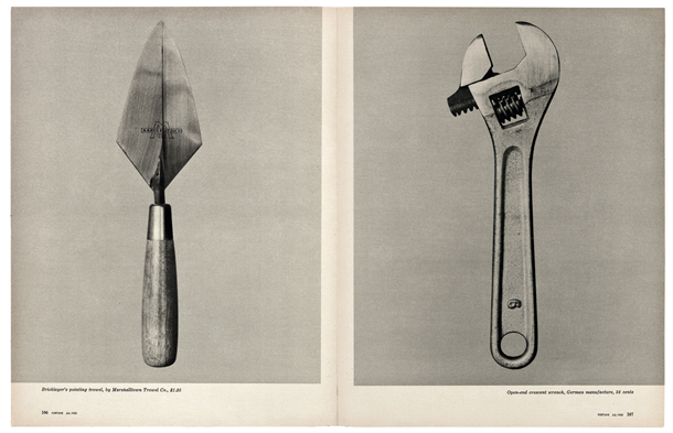 "Volkers Evanss, ""Pierastu darbarīku skaistums"" (""Beauties of the Common Tool""). Fortune, Jūlijs 1955"