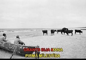 Kadrs no Ivara Grāvleja video ar Andreja Granta fotogrāfiju
