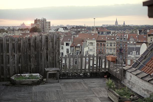 Skats uz Briseli no jumta terases. Foto - no personīgā arhīva