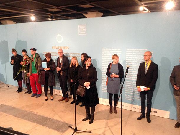 Izstādes Viewfinders atklāšana Rīgas Mākslas telpā