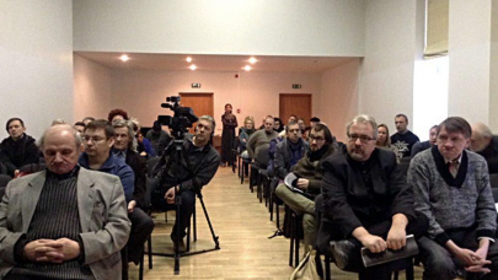 Pasākuma apmeklētāji. Foto - Arnis Balčus