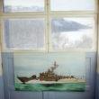 """Marija Gruzdeva. Glezna, krasta apsardzes bāze. No sērijas """"Krievijas robežas"""""""