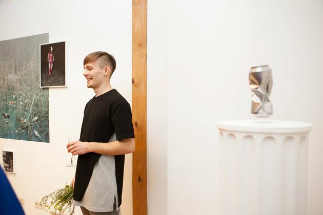 Andrejs Strokins izstādes atklāšanā. Foto - Inese Kalniņa