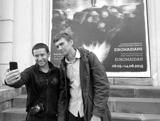 Vlads Krasnoščoks un Sergijs Ļebedinskis. Foto - Arnis Balčus