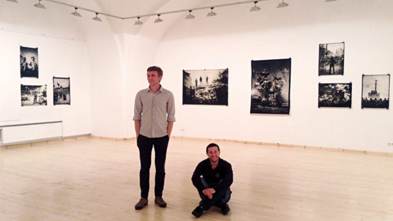 Sergijs un Vlads izstāžu zālē Arsenāls. Foto - Arnis Balčus