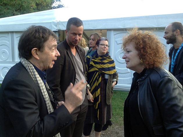 Kurators Kristians Kožols, JH Engstrēms un fotogrāfe Nena Goldina 2014. gada Landskronas festivālā. Foto - Arnis Balčus