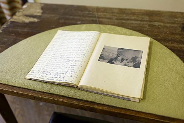 """Skats no Andreja Strokina projekta """"Simfonija bibliotēkai"""" bijušajā LNB ēkā"""