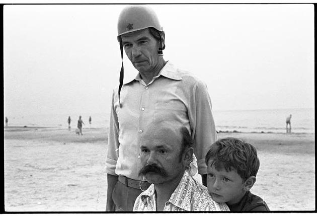 No kreisās - Egons Spuris, Aleksandrs Sļusarevs, Maksims Sļusarevs, 1985. Foto - Andrejs Grants
