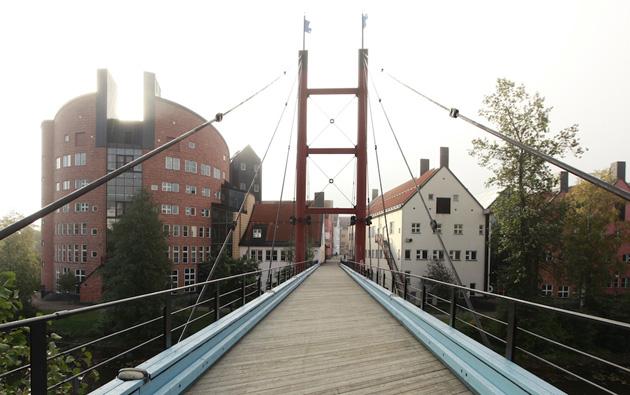 Tilts uz Universitātes kompleksu. Foto - no personīgā arhīva